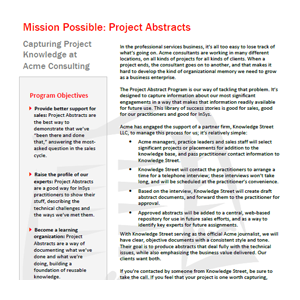 Project Abstract Program